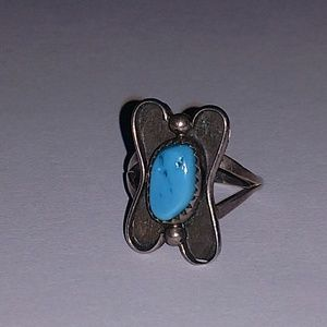 Vintage sterling and turquoise ring size 6